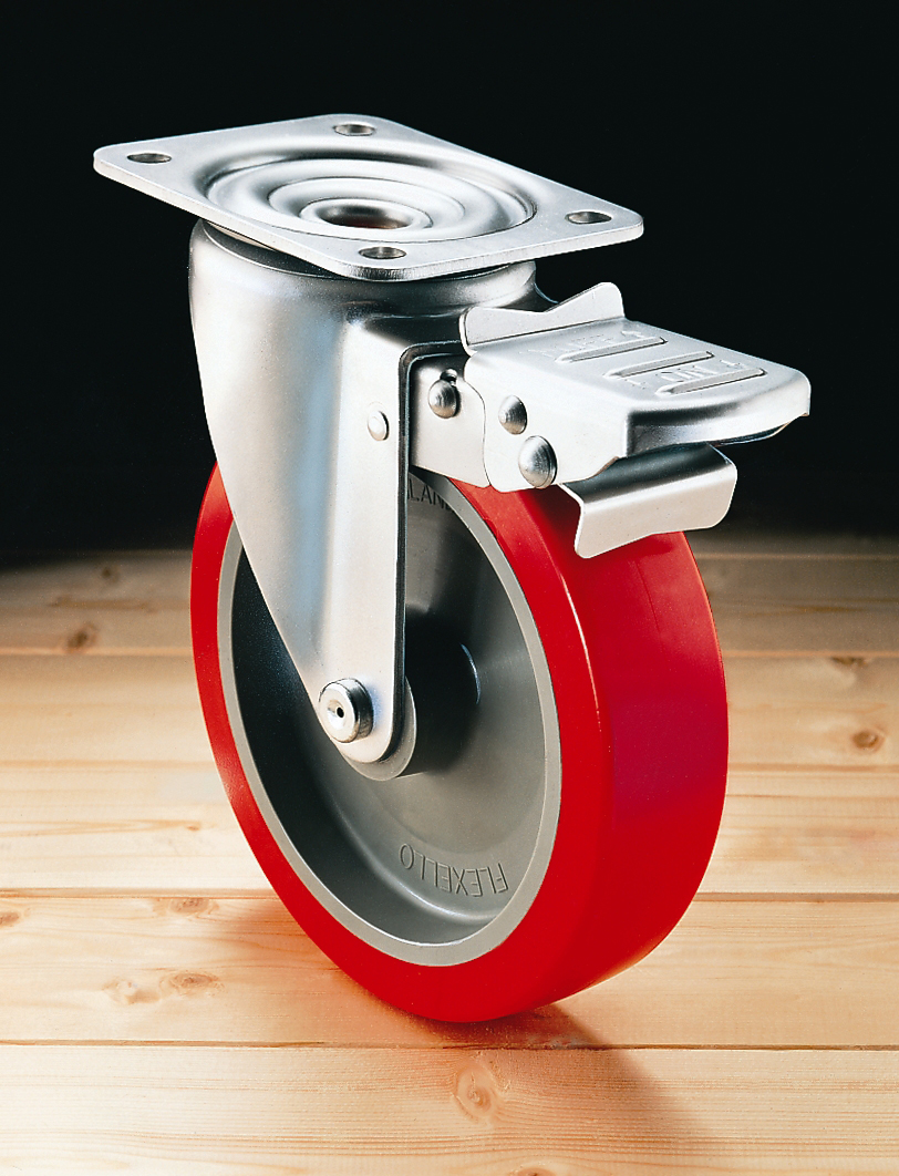 22 Series swivel caster with wheel brake