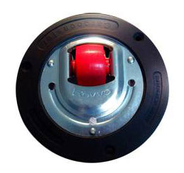 Revvo aviation cargo casters can be mounted in circular plates used in platform assemblies that facilitate rolling.