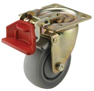 ET Series Medium-Duty Casters with Fixed-Position Brake